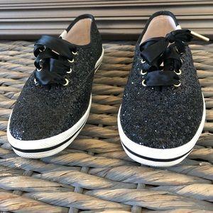 Keds For Kate Spade Black Glitter - Size 6 1/2 M